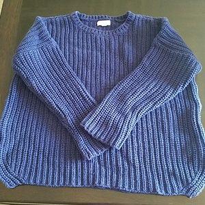 Navy chunky knit cozy sweater
